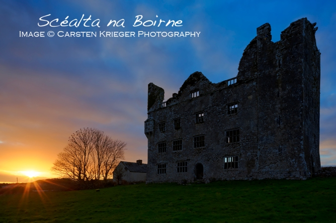 Leamenagh Castle, Sunset